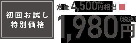 初回お試し特別価格1980円